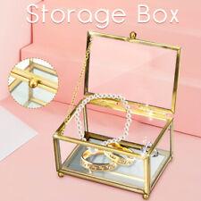Personalized Glass Wedding Ring Box, Custom Glass Rings Holder, Ring Bearer Box
