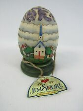 Jim Shore Heartwood Creek St. Church Egg with Green Base