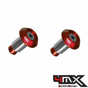 4MX Aluminium Red 14mm Bar End Plugs fits KTM 350 EXC-F 2012-2017