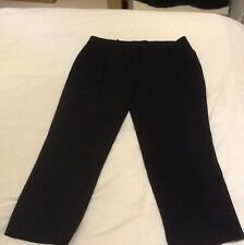 Jaeger Boutique Black Cropped Trouser Size 14