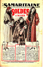 LA SAMARITAINE SOLDES D'HIVER CATALOGUE MODE DE 1930