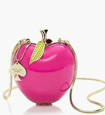 NWT Kate Spade New York Far From The Tree Resin Pink Big Apple Bag Clutch PURSE