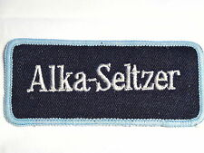"""""""Alka-Seltzer"""" Hang Over Cure Sew on Cloth Patch Badge 1970's"""