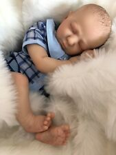"REALBORN® LOGAN ASLEEP REBORN DOLL BABY BOY 20"" 5LB 2OZ CHERISH DOLLS"