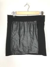 ebfed90d7c Forever 21 Faux Leather Front Stretch Mini Skirt, Size M/L