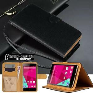 Black Magnetic Flip Cover Stand Wallet Leather Case For Various Doogee Phones
