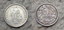 50 centimes ou 1/2 fr Suisse Genève 1962.B. Argent.