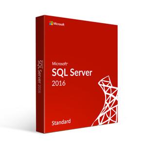 Microsoft SQL Server 2016 Standard - Full Server License Pack (Genuine License)