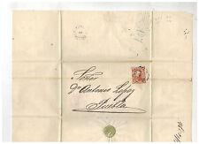 1872 Gutierrez y Del Rio Mexico Cover to Puebla Dr Antonio Lopez 4