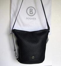 NEU BOGNER Soho Soe Leder Handtasche schwarz Tasche Schultertasche