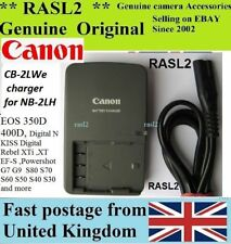 Genuine CANON Charger,CB-2LWE NB-2L NB-2LH Optura 30 40 50 60 400 500 600 elura