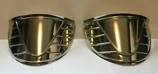 "7"" Headlight Visor Stainless steel RIBBED 1939-1948 Chevrolet Truck FREE SHIP"