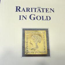  Raritäten in Gold  Briefmarken - Goldprägungen 99,8% Gold 39 Stück + Album