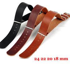 Fashion Watch Leather 18mm 20mm 22mm 24mm Black Brown Strap Wristwatch Band Belt