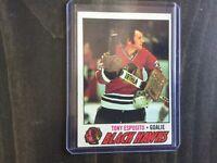 1977-78 Topps #170 Tony Esposito Chicago Blackhawks Hockey Card