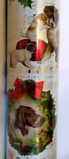 "Punch Studio CHRISTMAS DOG EPHEMERA WRAPPING PAPER.  NWT. 30"" X 10' METALLIC."