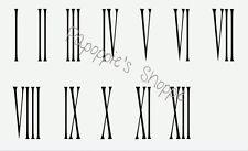 Stencils Roman Numerals 1-12 Skinny 4 Inch Tall DIY Clock Vintage Numbers School
