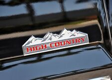 Gloss Red HIGH COUNTRY Vinyl Decal Inserts For 2014-2018 Silverado New Free Ship