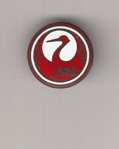 enamel pin badge anstecknadel JAL Japan Airlines company aviation rare
