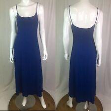 $120 Cosabella Italy Lingerie Women's Large Blue Mesh Crepe Midi Long Dress Slip