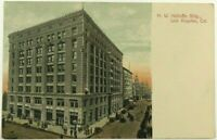 H W Hellman Building Los Angeles California Street Cars 1900's Vintage Postcard