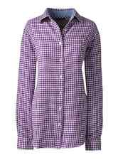 Lands End - Womens PXL (18P) - NWT  Iris Purple Gingham Plaid Flannel Shirt