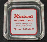 Vintage Ashtray Historic Mariani's Restaurant Motel El Camino Real Santa Clara