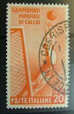 1934  Regno D'Italia  20  Centesimi  USATO  Campionati Mondiali di Calcio