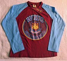 West Ham United FC con logotipo en 100% algodón Dormir Pijama Lounge Top: 8 años - 10 BNWT