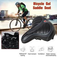 Comfort Wide Big Bum Bike Bicycle Gel Saddle Seat Extra Sporty Soft Cushion Pad