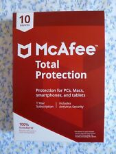 NEW McAfee Total Protection w/ AntiVirus 2018 - 10 Devices 1 Year protection