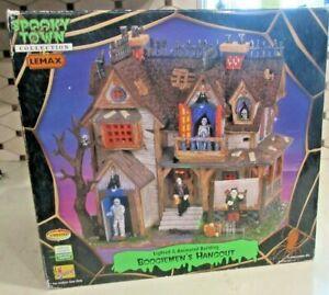 Retired Lemax Spooky Town Halloween Boogiemens Hangout  Lights Sound