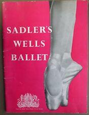 Sadler's Wells Ballet From The Royal Opera House, Covent Garden Program 1953