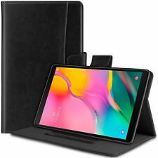 For Samsung Galaxy Tab A 10.1 Case Folio Stand PU Leather Cover Shockproof Black
