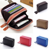 1Pc Women PU Leather Wallet Lady 0 Credit Card Holder Purse Zipper Coin Bag