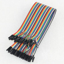 40pcs 40cm 1p-1p Connector Female to Female Dupont Wire Cable Line 2.54mm