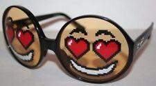 Jeremy Scott X Linda Farrow Heart Eye Emoji Sunglasses Black/Yellow New In Box