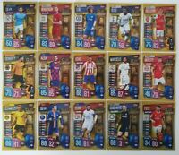 2019/20 Match Attax UEFA Soccer Cards - Set of 15 Club Legends Cards