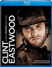 PRE-ORDER : CLINT EASTWOOD :3 MOVIE WESTERN COLL -  Blu Ray - Sealed Region free