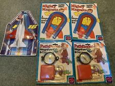 Lot 5 Old Sealed 1979s Tootsietoy Toy Lot Peg Toy Magnifier & Super Hero Magnets