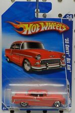 1955 55 BEL AIR RED 4 162 STREET OUTLAWS CHEVY GM HW HOT WHEELS