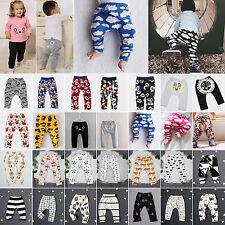 Newborn Kids Baby Boys Girls Elastic PP Harem Pants Toddler Trousers Leggings