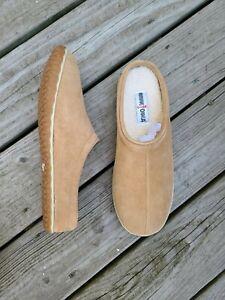 Minnetonka Taylor Mens Clog Slipper Size 11 M Cinnamon Newbuck