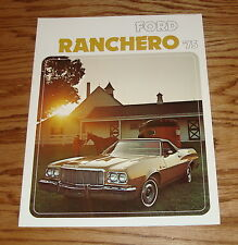 Original 1975 Ford Ranchero Foldout Sales Brochure 75