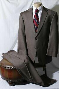 Hart Schaffner Marx Men's Taupe Flap Notch Single Vent Suit Size 44R W36