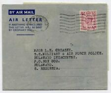 Air Letter Sheet. 7 Dec 1942 First Day of Issue. Sutton Coldfield - S Rhodesia
