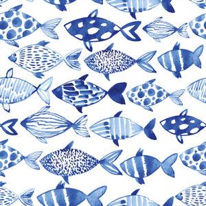 Vlies Tapete Rollen blaue Fische Muster Fototapete gemustert g-B-0082-j-a