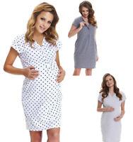 Maternity nursing pregnancy cotton nightdress nightshirt nighty 5073