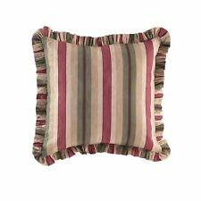 Nip Waverly European Euro Pillow Sham Laurel Springs Parchment Red Green Striped