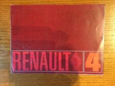 Brochure RENAULT 4 L - Prospectus French Prospekt  -CL3/19
